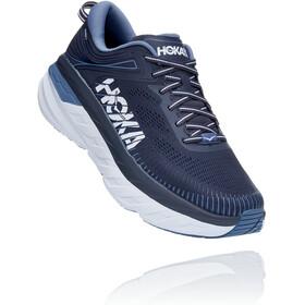 Hoka One One Bondi 7 Wide Chaussures de trail Homme, ombre blue/provincial blue